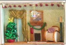 Christmas Miniatures / Festive inspiration for Christmas miniatures brought to you by Dolls House and Miniature Scene http://www.dollshouseandminiaturescene.co.uk