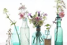 Bottle Beauty / Bottles make flower arranging easy and stylish, best of all they are often free. Here some great examples of them being used in a wide array of styles