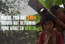 Poverty & Health / A board that explores the relationship between poverty & health.