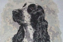 Dogs cross stitch / Cross stitch pictures of dogs by the artist and painter Christine Varley / by Yiota's cross stitch
