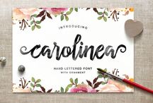 Typography: Fonts / by Sarah Ehlinger / Very Sarie