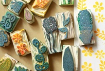 stamping | printmaking  / Carved Stamp | Pattern | stencil Stamps | Patterns  stamps | printmaking  / by Amy Yuangbhanich