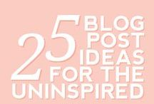 Blog Post Ideas / Random lists of blog post ideas for when you're out of inspiration.