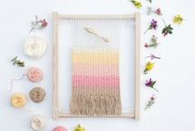 Modern macrame & weaving / A board to inspire DIY weaving and Macrame projects