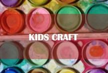 Kids craft / Educational, multi-sensory craft activities to keep toddlers busy, enhance their creativity.