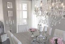 Landhaus elegant / #Home ideas #landhausstil #elegant einrichten #homestyling #white #silvergrey
