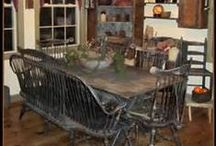 Early Home Decorating Ideas / This board is for those of us who love decorating with time-worn or artisan reproductions to create the look and warmth of Early America. PLEASE DO NOT SPAM this page with your product sales! thanks! Beth at Primitiques and HOME-ology