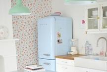 #jefaislacuisinequimeplait / Voici une évocation de la cuisine de mes rêves : gaie, colorée, fonctionnelle, vintage et...unique.