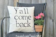 Sitting Southern Style / Porches and outdoor ideas