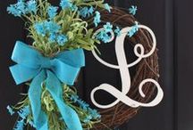 Front Door / Wreaths and other ideas for the front door of our home.