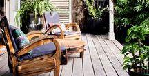 Terrasse | Balcon / Retrouvez ici ma sélection des plus insiprantes photos et ambiances pour le décoration de ma terrasse...