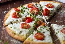Recettes de pizza | tarte / Retrouvez ici ma sélection des meilleures et plus belles recettes de pizzas et tartes salées à réaliser à la maison... ♥