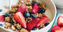Recettes de petit-dej | Brunch / Retrouvez ici ma sélection des meilleures et plus belles recettes de petit-déjeuners et brunchs ♥