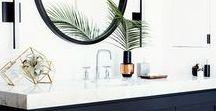 Salle de bains | Bathroom inspiration / Retrouvez ici ma sélection des plus inspirantes photos et ambiances pour la décoration de ma salle de bains...