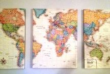{ mappity map map } / by Melody @ Behind My Picket Fence