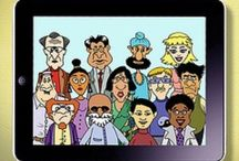 Cartoon Geeks / The wacky and equally diverse bunch of cartoon characters, who work at Paradox Software Corporation based in Pittsburgh, PA, USA. / by 'It's Geek 2 Me' tech toons