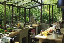 Jungle Home | Kitchen / Inspiration for the kitchen in my dream jungle home.