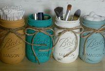 •Mason Jars & Other Bottle Crafts• / I love mason jars!! / by Ashley Hays