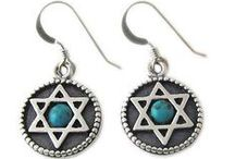 Jewish Earrings / Our stock of earrings are all made in Israel from high quality materials.