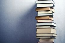 { bookshelf } / books and reading material  / by Melody @ Behind My Picket Fence