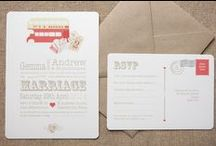 Wedding Stationery / Your wedding stationery sets the tone for the whole day - make sure you pick the right one for you as you browse our board of wedding invitations, save the dates, place cards and more...