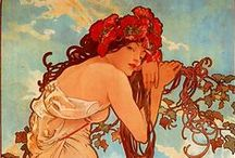 Artists: Mucha / Alphonse Mucha / by Michelle Wood-Capolino