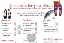 Classic Closet / How to build a classic closet and splurge pieces that fit the title / by Victoria Vitale