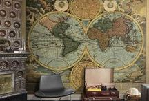 World Map Wallpaper / A world map wallpaper mural is a definite talking point. Great for a business, home office or kids room. http://www.wowwallpaperhanging.com.au/world-map-wallpaper-mural/