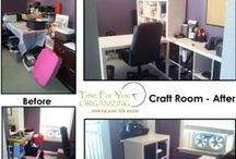 Before & After / Organized spaces and projects  / by Time For You ORGANIZING