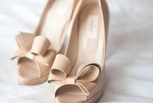 Bridesmaid Shoes / Sharing shoe style ideas with you all!    Not necessary to match each other; just need to wear a nude, patent leather, open-toed heel.