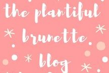 The Plantiful Brunette Blog / Delicious plant-based recipes from www.theplantifulbrunette.com. A mix of vegan, dairy-free, gluten-free & refined sugar-free.