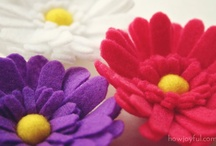 Fabric Flowers / I just love fabric flowers!! So quick, so easy so gorgeous!!