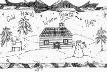 WSJ ART ~ for hooking - handwork