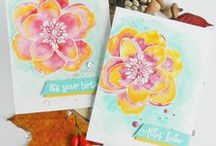 My card making: Essentials by Ellen / Handmade cards with Ellen Hutson stamps