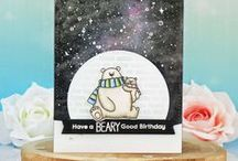 My card making: Galaxy backgrounds