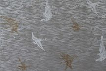Master Bath: Birds in Silver / An inspirational scheme using Krane by Sharon Lee fine hand-made wallpaper.  www.kranewallpaper.com