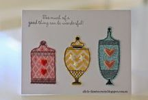 CTMH Art -  w. Hostess-Only Stamp Sets / CTMH hostesses may choose exclusive stamp sets at a discounted price -- this is art created with these great sets! (maybe other art that I'm inspired to duplicate with one of our hostess sets too)