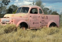 Relics of Lightning Ridge  / Lightning Ridge is a veritable treasure house of antique machinery. Cars, Trucks, Concrete Mixers and all sorts of gadgets that have been adapted to the goal of finding opal