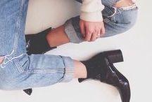 boyfriend jeans / by annebeth bels