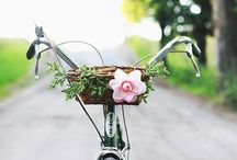 Bicycle inspiration / On my Santa list is a vintage style bicycle and all the wonderful goodies that come with it!!