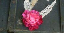 Alkotásaim - Virágékszereim - My handmade flower jewelry for weddings
