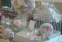 Alkotásaim - Esküvői börze asztalom - My handmade thigs for a bridal market