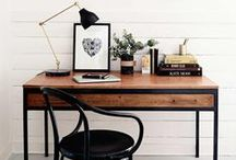 Hustling. / Home decor ideas for a creative workspace for you to be most productive.