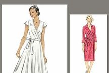 Sewing Patterns for wrap dresses- inspired by the bee!