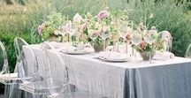Styled Shoots by Vanity Affair Events / mixing this monochromatic palette with delicate, feminine touches