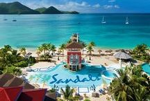 Sandals Grande St. Lucian / The only all inclusive St. Lucia resort cradled on both sides by the Caribbean Sea, Sandals Grande St. Lucian's sheltered mile-long beachfront is home to the calmest waters in all of St. Lucia.
