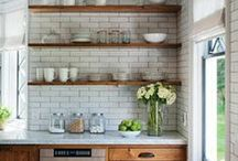 KITCHEN BACKSPLASH / cool and contemporary tile for the kitchen backsplash — these excite me
