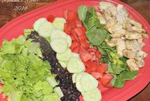 Super FUN Salads / If you are sick of the same ol' boring salads try switching it up! Healthy salads and dressings that will be the star of any lunch or dinner.