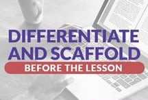Differentiate & Scaffolding / There are differences between differentiation and scaffolding. Differentiation refers to the idea of modifying instruction to meet a student's individual needs and learning styles. Scaffolding refers to modifications you make while designing and teaching lessons that allow all students to be successful in learning the same content.