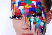 Color Me A Face / Color me Face ... Study in COlor / by Bashert Jewelry